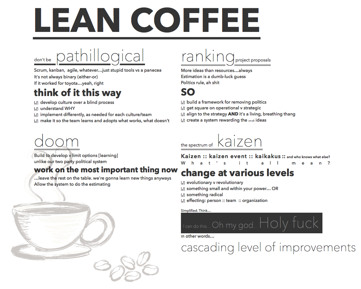 lean coffee notes dec 18 2013