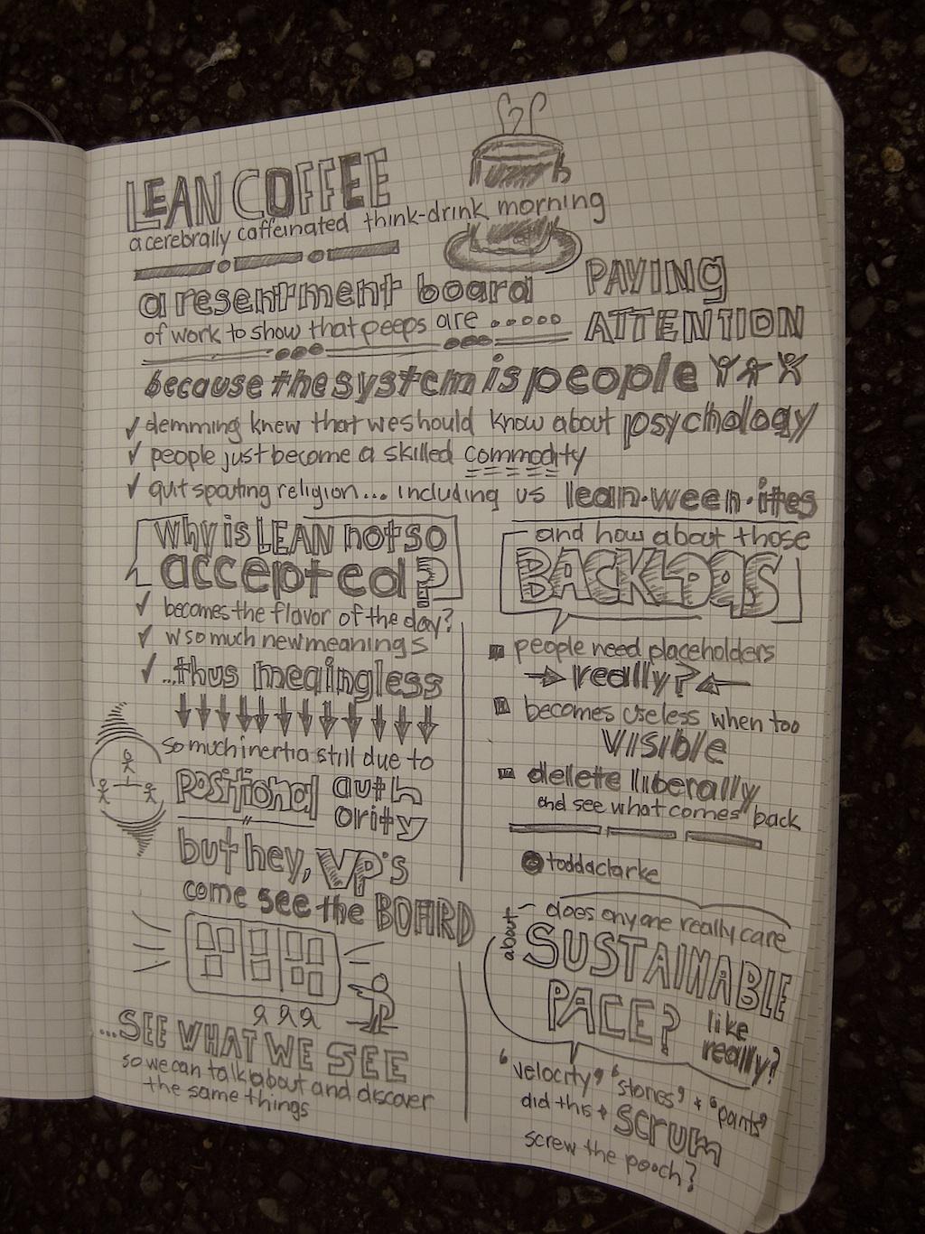 lean coffee notes jan 15 2014