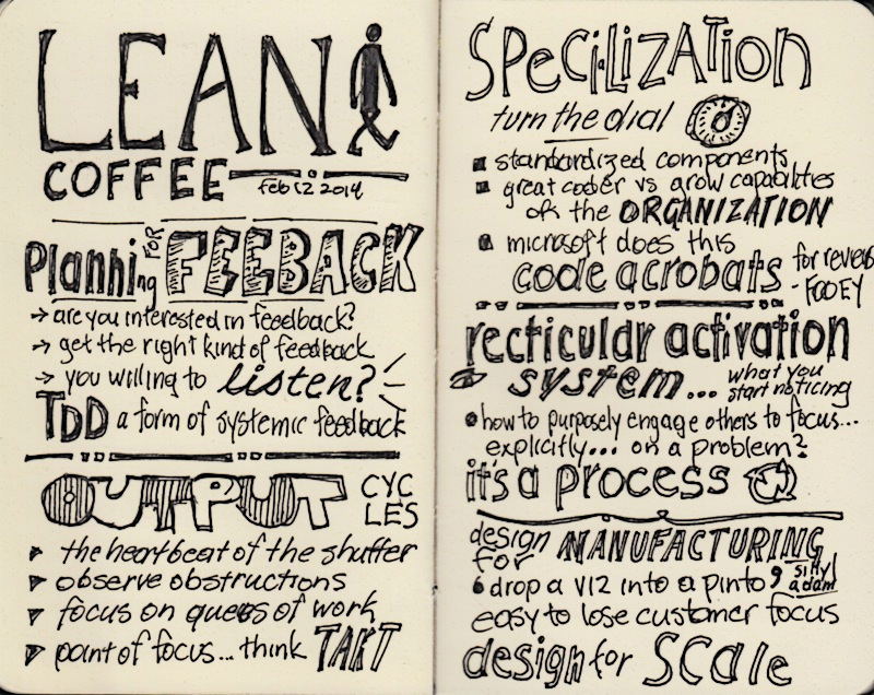 lean coffee notes feb 12 2014